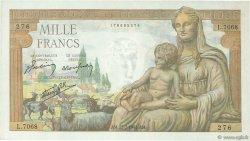 1000 Francs DÉESSE DÉMÉTER FRANCE  1943 F.40.31 TTB à SUP