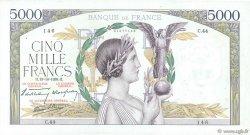 5000 Francs VICTOIRE modifié FRANCE  1938 F.45.01 TTB+
