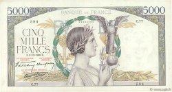 5000 Francs VICTOIRE Impression à plat FRANCE  1938 F.46.01 TB à TTB