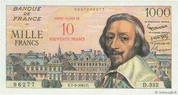 10 NF sur 1000 Francs RICHELIEU FRANCE  1957 F.53.01 pr.NEUF