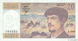 20 Francs DEBUSSY FRANCE  1982 F.66.03 SUP+