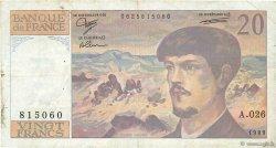 20 Francs DEBUSSY FRANCE  1989 F.66.10a TB+