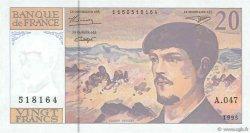 20 Francs DEBUSSY Modifié FRANCE  1995 F.66ter.01 SPL+