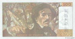 100 Francs DELACROIX imprimé en continu FRANCE  1990 F.69bis.01b6 SPL