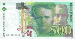 500 Francs PIERRE ET MARIE CURIE sans STRAP FRANCE  1994 F.76qua.01
