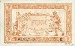 1 Franc TRÉSORERIE AUX ARMÉES FRANCE  1917 VF.03.04 SUP