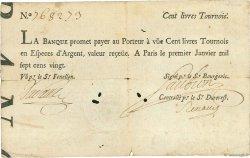 100 Livres Tournois FRANCE  1720 Laf.090 TTB