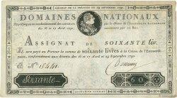 60 Livres FRANCE  1790 Ass.05a TTB+