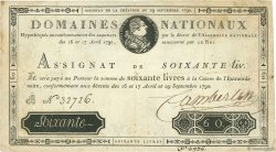 60 Livres FRANCE  1790 Ass.05a TTB