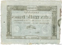 10000 Francs FRANCE  1795 Ass.52a SUP+