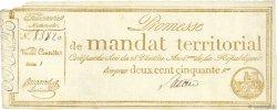 250 Francs avec série FRANCE  1796 Ass.61b TTB