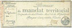 500 Francs avec série FRANCE  1796 Ass.62b TTB+