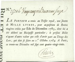 1000 Livres FRANCE  1783  SPL
