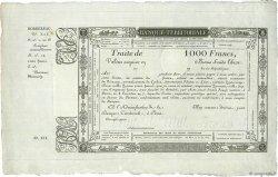 1000 Francs FRANCE  1800  SUP