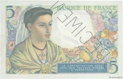 5 Francs BERGER FRANCE  1943 F.05.00 pr.SPL