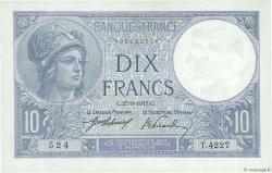 10 Francs MINERVE FRANCE  1917 F.06.02 SUP