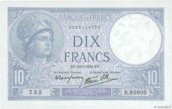 10 Francs MINERVE modifié FRANCE  1941 F.07.28 NEUF