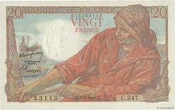 20 Francs PÊCHEUR FRANCE  1950 F.13.17a SUP à SPL