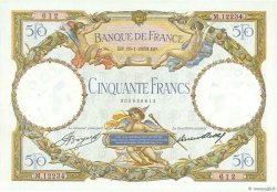 50 Francs LUC OLIVIER MERSON type modifié FRANCE  1933 F.16.04 SUP+