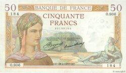 50 Francs CÉRÈS FRANCE  1935 F.17.05 TTB+