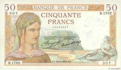 50 Francs CÉRÈS FRANCE  1935 F.17.09 SUP+