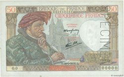 50 Francs JACQUES CŒUR FRANCE  1940 F.19.00 pr.NEUF