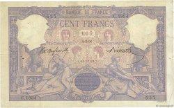 100 Francs BLEU ET ROSE FRANCE  1896 F.21.09 TB+