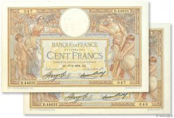 100 Francs LUC OLIVIER MERSON grands cartouches FRANCE  1934 F.24.13 pr.SPL