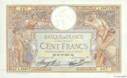 100 Francs LUC OLIVIER MERSON type modifié FRANCE  1937 F.25.03 pr.SUP