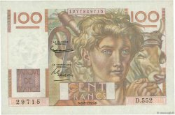 100 Francs JEUNE PAYSAN filigrane inversé FRANCE  1952 F.28bis.02 TTB+