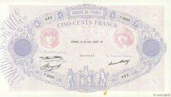 500 Francs BLEU ET ROSE FRANCE  1937 F.30.38 SUP