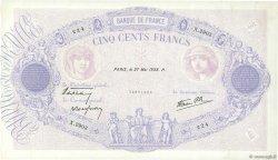 500 Francs BLEU ET ROSE modifié FRANCE  1938 F.31.12 pr.SUP