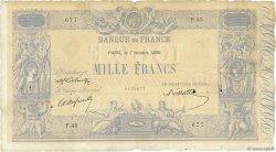 1000 Francs BLEU ET ROSE FRANCE  1890 F.36.02 B+