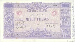 1000 Francs BLEU ET ROSE FRANCE  1921 F.36.37 TTB+