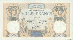 1000 Francs CÉRÈS ET MERCURE type modifié FRANCE  1939 F.38.35 pr.SUP