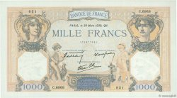 1000 Francs CÉRÈS ET MERCURE type modifié FRANCE  1939 F.38.35 pr.SPL