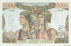 5000 Francs TERRE ET MER FRANCE  1949 F.48.02 SPL