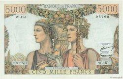 5000 Francs TERRE ET MER FRANCE  1956 F.48.11 SUP à SPL