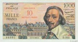 10 NF sur 1000 Francs RICHELIEU FRANCE  1957 F.53.01 NEUF