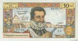 50 Nouveaux Francs HENRI IV FRANCE  1959 F.58.01 TTB