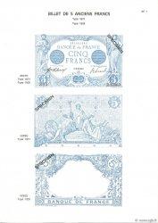 5 Francs BLEU et 5 Francs NOIR FRANCE  1975 F.01/02pl NEUF