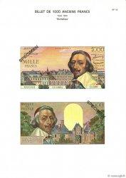 1000 Francs RICHELIEU FRANCE  1975 F.42.00 NEUF