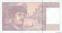 20 Francs DEBUSSY à fil de sécurité FRANCE  1990 F.66bis.01a NEUF