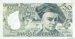 50 Francs QUENTIN DE LA TOUR FRANCE  1990 F.67.16 SUP