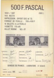 500 Francs PASCAL FRANCE  1987 F.(71) SUP