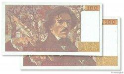 100 Francs DELACROIX imprimé en continu FRANCE  1993 F.69bis.05a pr.NEUF