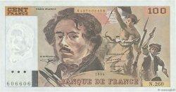 100 Francs DELACROIX 442-1 & 442-2 FRANCE  1994 F.69ter.01a SUP+