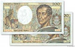 200 Francs MONTESQUIEU FRANCE  1988 F.70.08 SUP