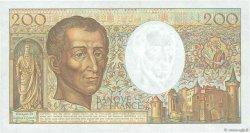 200 Francs MONTESQUIEU FRANCE  1991 F.70.11 SUP