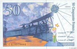 50 Francs SAINT-EXUPÉRY Modifié FRANCE  1994 F.73.01b SPL+